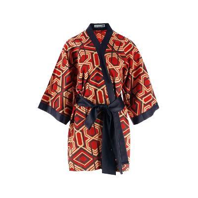 oriental pattern kimono robe